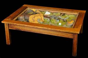 William herrick collection big sky carvers golf table for Golf coffee table