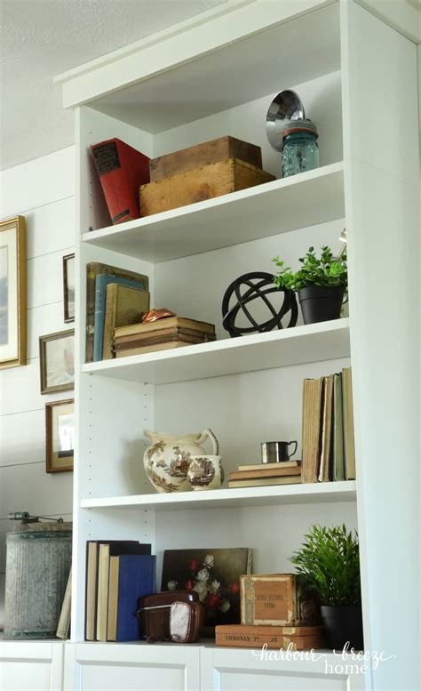 Craftsman Style Built In Bookcases by Diy Built Ins From Bookshelves At Ikea Harbour Home