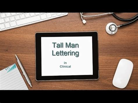 tall man lettering lettering for medications 25020   hqdefault