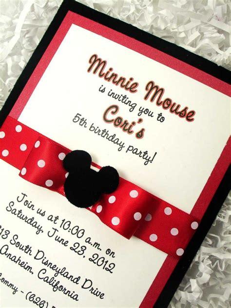 minnie mouse baptism invitations