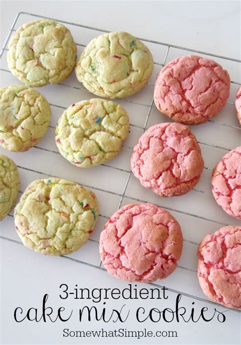 how to make cake mix 3 ingredient cake mix cookies easy and delicious somewhat simple