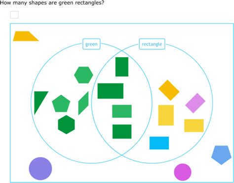 ixl count shapes in a venn diagram 3rd grade math