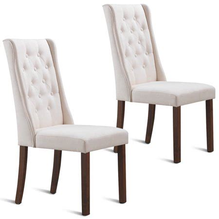 gymax set   fabric dining chairs armless tufted accent