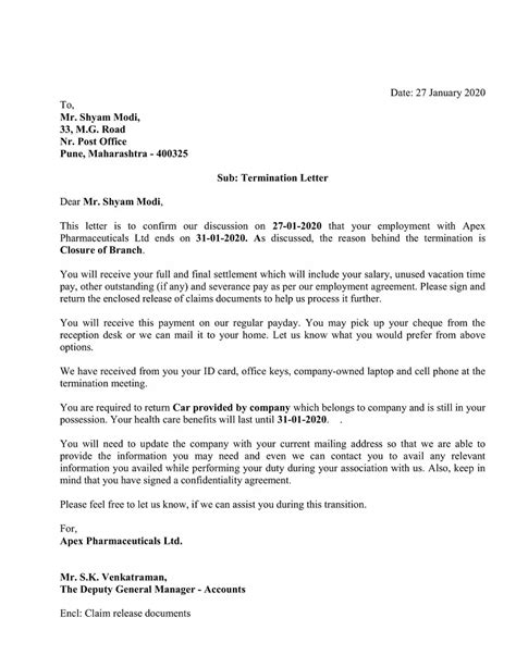 Download Employee Termination Letter Excel Template | Lettering, Templates, Letterhead format