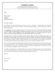 cover letter for teaching resume 14 sle cover letter recentresumes