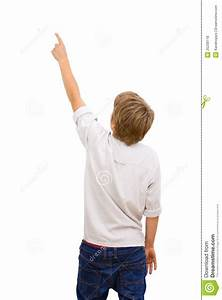 Boy Facing With Back Pointing. Royalty Free Stock Photos ...