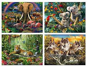 JUNGLE TIGER Poster 4PCS Wild Animals in Rainforest Nature