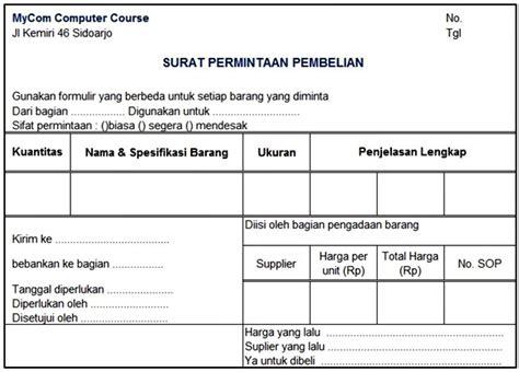 Surat Permintaan Pembelian by Akuntansi Perusahaan Dagang Prosedur Pembelian