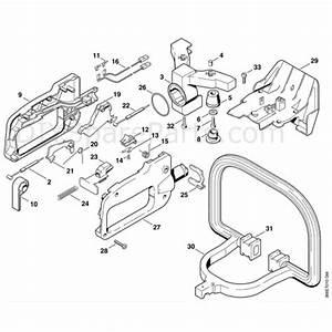 Stihl Hs 75 Petrol Hedgetrimmer  Hs75  Parts Diagram  H