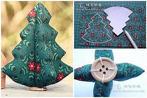 How to sew cute fabric Christmas trees step by step DIY