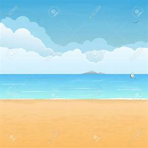 Sea clipart beach background - Pencil and in color sea ...