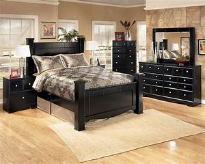 Signature design by ashley shay 5 piece queen bedroom for Ashley furniture 5 pc bedroom sets