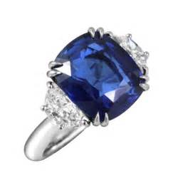 KJ5 Cushion Cut Blue Sapphire & Diamond Engagement Ring