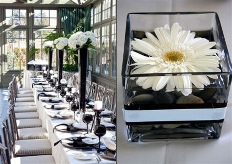 black and white table arrangements 46 cool black and white wedding centerpieces happywedd com