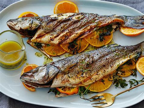 grilled whole mediterranean fish with aged sherry vinegar tarragon vinaigrette recipe bobby