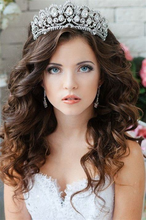 tiara hairstyles ideas  pinterest wedding
