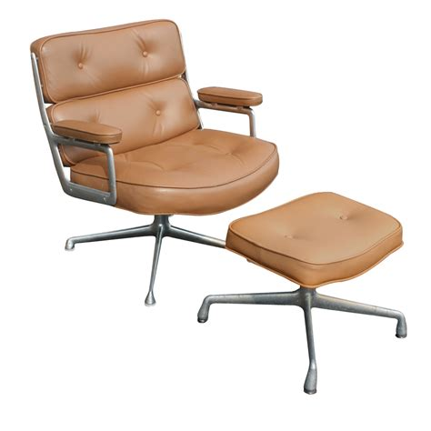 herman miller time lounge leather chair ottoman