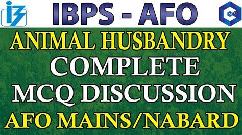 ibps afo mainsnabard animal husbandry mcq discussion