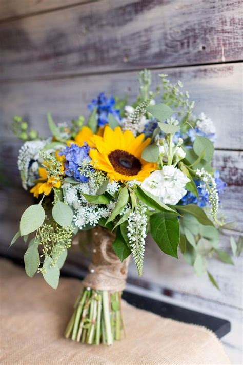 pretty  bright sunflower wedding ideas