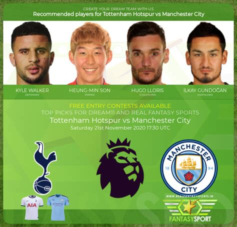 Tottenham Hotspur vs Manchester City match prediction ...