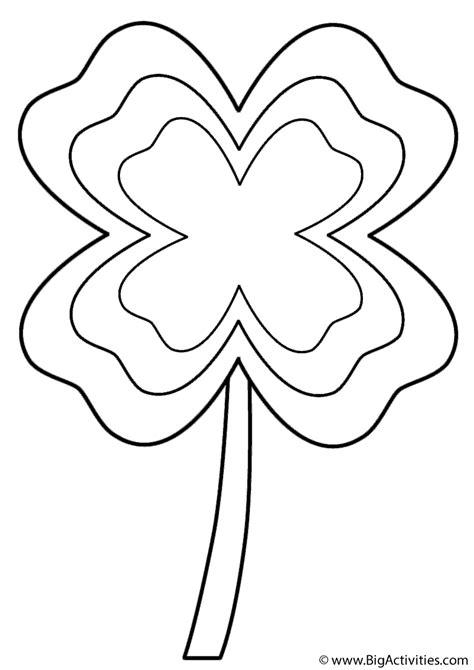leaf clover  multi border coloring page st