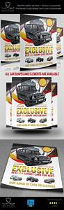Rent A Car Flyer Template Vol 2  U2014 Photoshop Psd  Sport Car