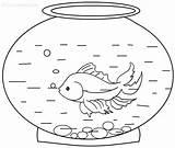 Goldfish Coloring Pages Printable Fish Printables Bowl Memoirs Cool2bkids Getcoloringpages sketch template