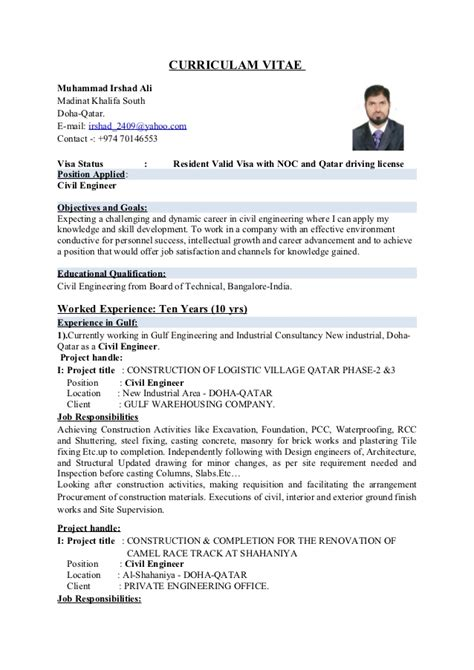 Resume Format For Experienced Civil Engineers Pdf by Civil Engineer