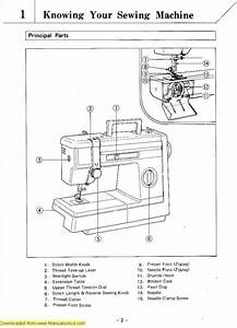Brother Sewing Machine Parts Diagram