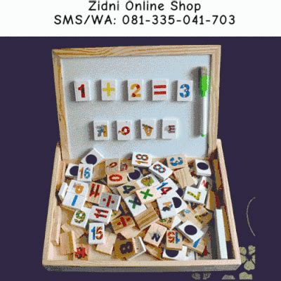 terjual wooden magnetic dominoes domino kayu angka