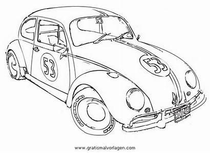 Herbie Coloring Bug Movie Volkswagen Maggiolino Vw