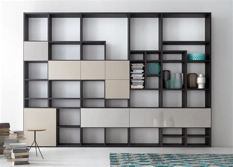 wall to wall bookcases lema selecta 04 bookcase wall unit customisable