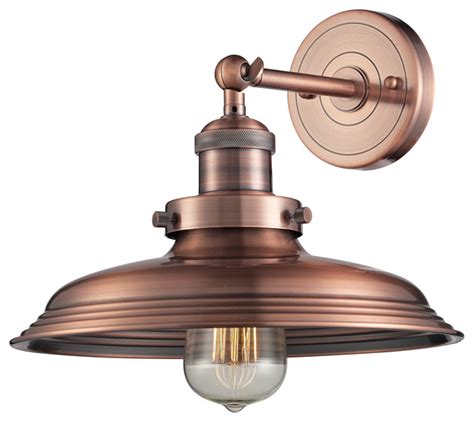 newberry 1 light sconce in antique copper farmhouse