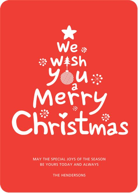 wish you merry christmas card we wish you a merry christmas card paper culture
