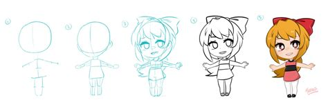 anime chibi tutorial lazy chibi drawing process tutorial by jessicafreaxx on