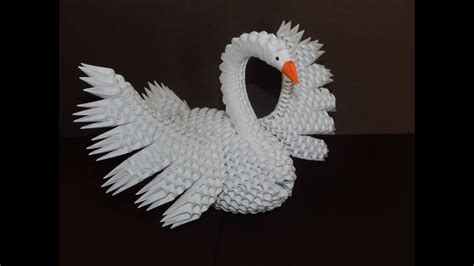 3d origami paper how to make 3d origami swan 7 part1