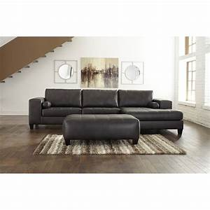 signature design by ashley nokomis contemporary faux With norland contemporary sectional sofa with chaise