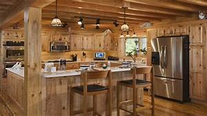 Log home kitchen interior design log cabin kitchens best for Log homes interior designs 2