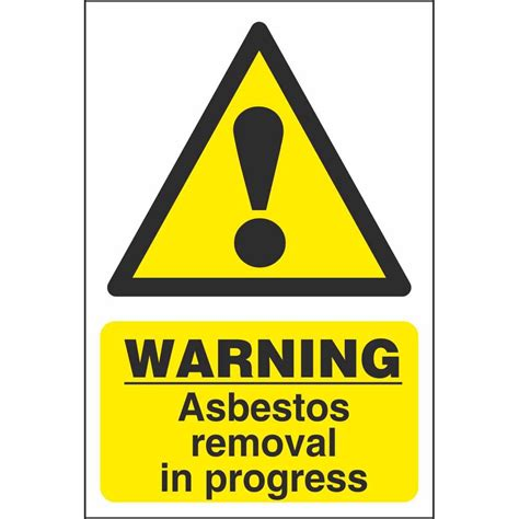 asbestos removal chemical warning signs dangerous goods