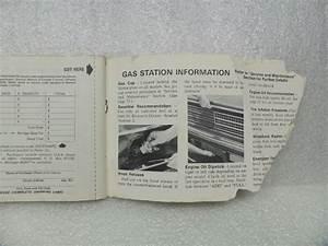 Owners Manual Damaged For 1975 Nova