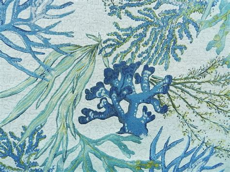 coral reef oceanside style upholstery fabric by 1502 fabrics