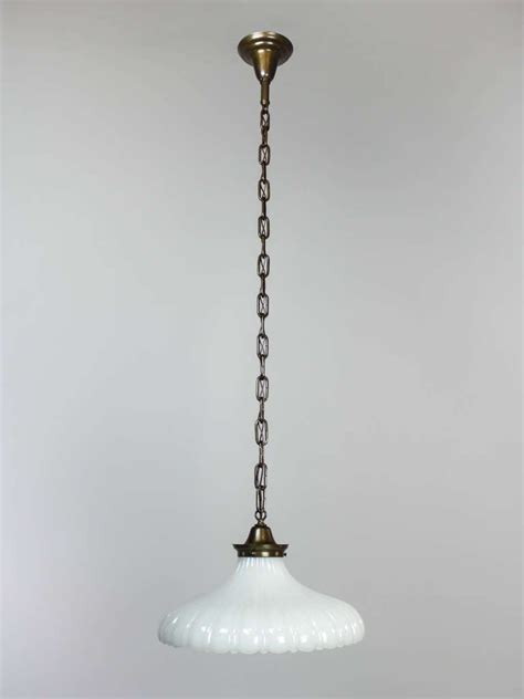milk glass pendant light fixture at 1stdibs