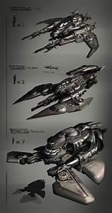 concept ships: Concept spaceships by Léo Lasfargue