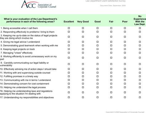 project client satisfaction survey template