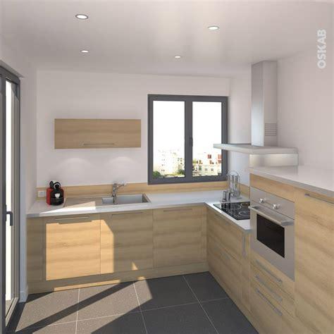 cuisine blanche et bois clair 1000 images à propos de cuisine équipée design oskab sur