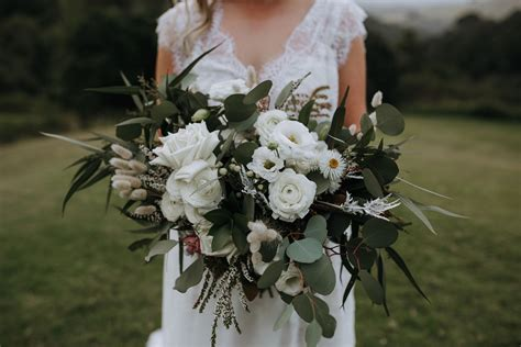 wedding bouquets sunshine coast peonies roses natives