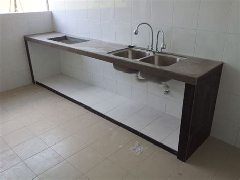 kitchen sink table top kitchen concrete table top with tiles and embedded