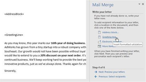 mail merge word  tutorial office word