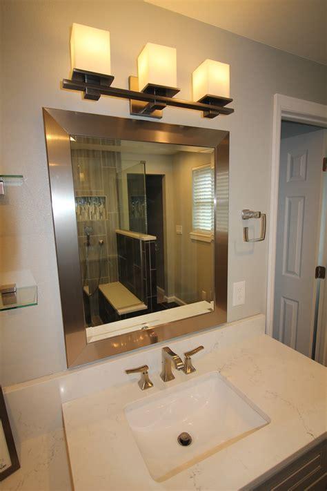 dark grey master bathroom vista remodeling