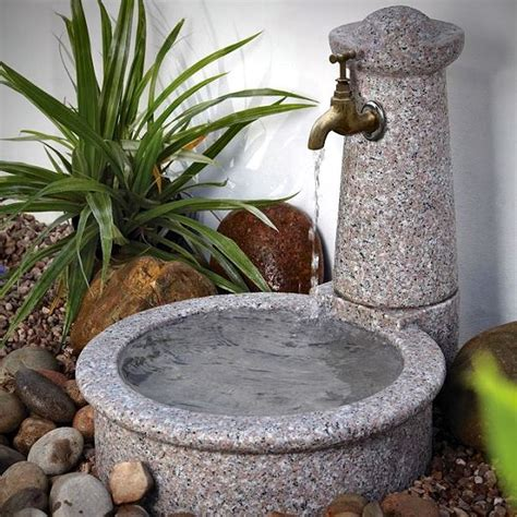 granite tap bowl water feature garden water features